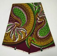 Wholesale African veritable classic fashion block in prints REAL WAX cotton yards high quality for wedding or part B0592FNANA31725