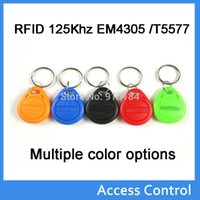 Wholesale bag RFID hotel key fobs EM4305 chip KHz rewritable read and write proximity ABS tags access control