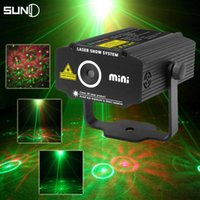 Wholesale SUNY Mini Laser Projector Red Green Laser Stage Light Laser Lighting Effect Disco DJ Club Home Party Flower Show Lights