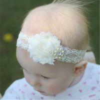Wholesale Elastic Lace Headband Baby Girls Kids DIY Hair Band Accessories Handmade DIY Tools