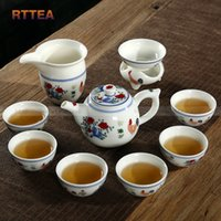 Wholesale Chenghua chicken color bucket cylinder cup tea set