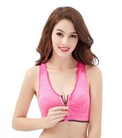 Wholesale Front zipper sports bra professional shockproof breathe freely without rims running vest yoga sports bra woman