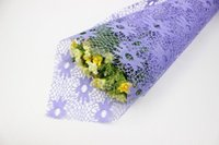 Wholesale Price Flower Wrapping Paper Floral Mesh x70cm Flower Wrapping Mesh Wedding Decoration DIY Packaging Sleeve