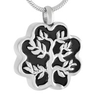 achat en gros de bijoux en crème en acier inoxydable en gros-IJD9361 Tree Of Life Urn Necklace For Men Femmes 316L Stainless Steel Cremation Jewelry Wholesale Cheap