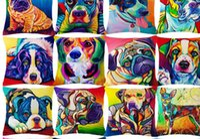 Precio de Perros perro de aguas-Bulldog francés Cofrecito de perros Bull Terrier Cofrecito de caballeros rey Charles Spaniel Cojín de algodón Lino Coche Euro Almohada Decorativo