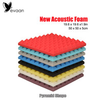 acoustic wall insulation - EVAAN New Wall Stickers inch Pyramid Shape Soundproof foam panel Acoustic Foam Panel Sound Insulation Studio Polyurethane foam