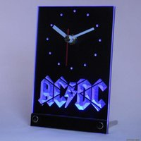 ac dc clock - tnc0148 ACDC AC DC Band Music Bar Club Table Desk D LED Clock
