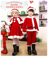 Wholesale 2017 new children s Christmas clothing apparel santas girl performance clothing boys and girls Christmas cartoon costumes