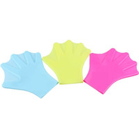 Wholesale CONQUEST natural silicone swimming gloves H5308 for adults and children