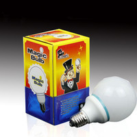 Wholesale Magic Light Bulb Addams Family Uncle Fester Trick Costume Joke LED Magician close up magic christmas party strick show as gift