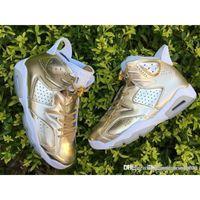Wholesale Air New Jordan R Retro Pinnacle Metallic Gold IN HAND Jordans Retros s Pinnacle Men Basketball Shoes Come With Original Box