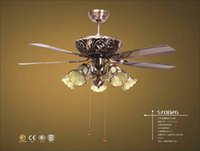 Wholesale 0026European style living room lamps lighting lamp for ceiling fan lamp fan creative restaurant ceiling fan with a lamp
