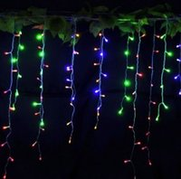 Wholesale Christmas Lights V LED Curtain String Light leds Night Lamp Outdoor Waterproof for Holiday Party Home Garden Romantic Lighting Decor