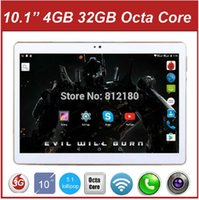 Wholesale 2016 Newest inch Tablet PC Octa Core GB RAM GB ROM Dual SIM Cards Android MTK8752 GPS G LTE Tablet PC Gifts