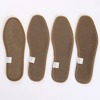 Wholesale New Men Women Bamboo charcoal insoles Comfort Arch Support Massage Sport Shoe Insoles Shock Absorber Heel Arch Feet Foot Support Pad Run Pad