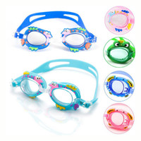 Wholesale A variety of Cute Waterproof Children Swimming Goggles Adjustable Swim Goggles UV Anti Fog For Boys Girls