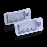 Wholesale 18LED audi Audi license plate light led AUDI Q5 A4 D D A5 S5 PASSAT on the loading