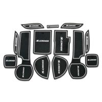 auto parts sticker lot - 13PCS High Quality Latex Gate Slot Mat Car Cover Sticker For Suzuki S cross Interior Decoration Auto Parts Accessories