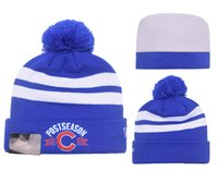 Wholesale New Chicago Cubs Beanies Hotsale Sport Team Knitted Skullies CHC Brand Winter Hats Blue