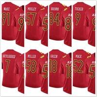 berry men - Men s AFC Antonio Brown Pro Bowl Travis Kelce Tom Brady Khalil Mack Justin Tucker Eric Berry Game Red Jerseys
