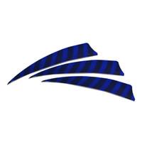 100pcs / lot 4 pouces palette gauche plumes de bouclier de dinde pour la flèche arc de chasse en plein air tir à l'arc différents choix de couleurs rayure dans les sports de plein air