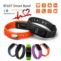 2017 New Smart Wristband ID107 Smart Band Heart Rate Monitor pulsomètre Fitness Tracker pour ios 7.0 Android 4.4 Podomètre Bracelet