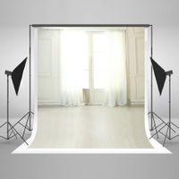 Wholesale 5x7ft x220cm Wedding Photography Backdrops Window White Curtain Photo Background Washable Material