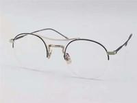 Wholesale Hot Vintage Optical Glasses Frame Designer Oculos De Sol Feminino Clear Lens Half Metal Frame Glasses Frame Men