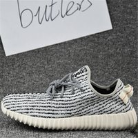 Cheap 2017 Adidas Original Kanye West Yeezy Boost 350 2016 Pirate Black Low Sports Running Shoes Women Men Sneakers Training Eur36-46 With Box