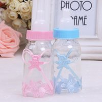 baby bottle favours - Baby Shower Baptism Favours Candy Bottle Storage Box Gift Baby Feeding Bottle Candy Boxes Organizer Wedding Party JK671072