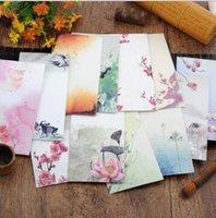 Wholesale set Vintage Chinese Style Vintage Craft Paper Envelope For Letter Paper Postcards Korean Stationery