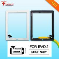 Reemplazo del digitizador de la lente de cristal de la pantalla táctil para el iPad de Apple 2 3 4 negro de alta calidad AAA +++