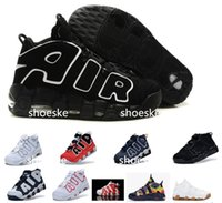 basketball flooring prices - 2016 AIR More Uptempo Scottie Pippen Basketball Shoes For Lover Fashion Best Price black white Top Quality Athletic Sport Sneakers