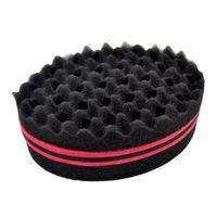 barber hairstyles - Sponge Hair Brushes Barber Create Hairstyles For Short Hair Curl Wave Ellipse Magic Tool Both Sides Sponge for Blacks Hair Styling Tool