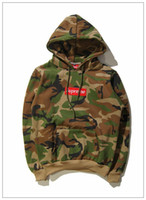 supreme clothing - New Camouflage Supreme Winter hip hop sport palace Fleece skateboards hoodies unisex Trainning sweatshirt pullover clothing hombre Sportwear