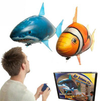 Wholesale Remote Toys Flying Fish Air Swimmers Shark Remote Control Fishing Ugly Fish Aerial Inflatable Air Foil Balloons Kids Toys
