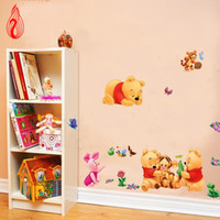 Wholesale QT0004 DIY Wall Sticker Winnie the Pooh and Tigger All match style Wallpapers Mural Art Waterproof Wall Stickers Home Decor