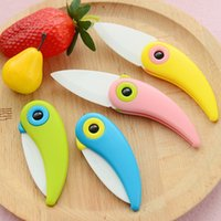 abs handles - Mini Bird Ceramic Knife Pocket Folding Bird Knife Fruit Paring Knife Ceramic With Color ABS Plastic Handle Kitchen Tools Gadget