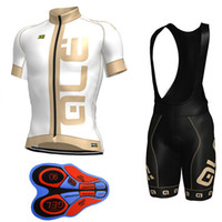 2017 New Ale Cycling Jersey + 9D Gel Padded Bib Shorts Set Pro Team Taille de vêtements S-4XL MTB Maillot Ciclismo F1201