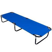 Wholesale Folding bed Outdoor Deck Camping Sun Lounger Beach Chair Bed Office Easy Carry Strong metal legs Dimension cm OP2617