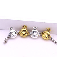 antique monkeys - Sweet Bell Min order mm Hot Sale Antique silver gold plated Crown Monkey Bead Bracelet Jewelry Charm Free Shiping Z9003
