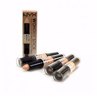 Wholesale NYX Wonder Stick Concealer Highlight Contour Stick Foundation Face Makeup Double ended Contour stick Colors Light Medium Deep Universal