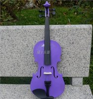 Wholesale Purple Violin Size Available Violin in Full Set Bow Rosin and Case Colorful Violins Many Colors Available