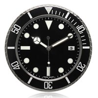 Wholesale Holy Shit Luxury Home Decor Brand New Wall Clock Black Timepiece Silent Mute Quartz Luminous Hands rlx