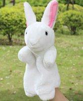 Wholesale cheap Plush toys hand puppet cute little rabbit plush doll