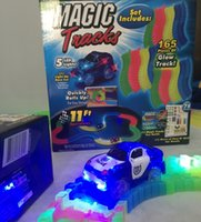 Wholesale Magic Track Car Toys For Children Play Magic Tracks Bend Flex and Glow Racetrack with Feet Piece Glow In the Dark Track