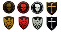 backpacks clothes - VP S H I E L D PVC Patch with stick D Rubber badge STAR WAR Crusader Airsoftsports Tactical Clothes Backpack Badges