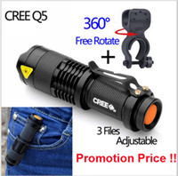 aa cycles - Cycling Bike Bicycle Light LED Flashlight MINI CREE Q5 mode Strobe Flash Lantern LED Lumens Adjustable Focus Power By AA Holder