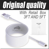 Wholesale 1M Ft M FT Micro USB Cable Sync Data Cable Charging Cords With Retail Box For Phone Samsung Galaxy S6 S7 edge