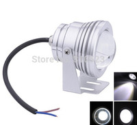 Wholesale W warm cold White LED Underwater Lights Swimming Pool Lamp Waterproof IP68 DC12V fountain light